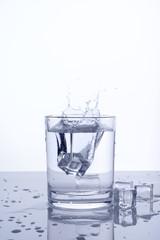 glass ice splashing