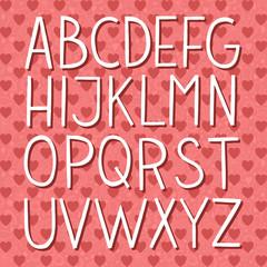 Colorful hand drawn vector full alphabet.