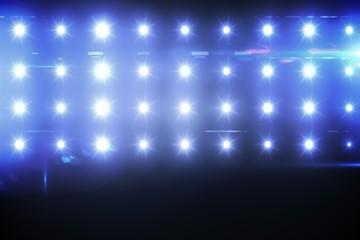 Composite image of blue spotlight