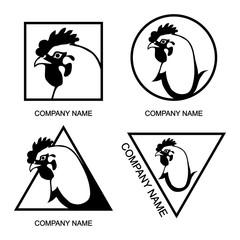 set of  Chicken logo