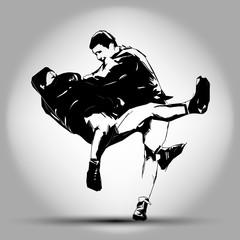 illustration of Judo. Hand drawing