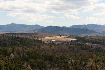 Adirondacks Panorama View in Lake Placid