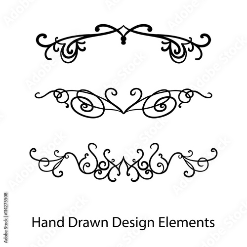 Abstract vector design elements set of hand drawn fancy curls and abstract vector design elements set of hand drawn fancy curls and swirls paragraph or text junglespirit Image collections