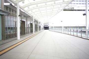 Shopping mall terrace