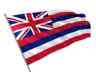 Flag of Hawaii waving in the wind