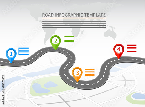 Quot Road Infographic Template Quot Stock Image And Royalty Free