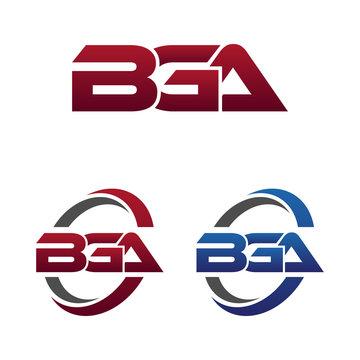 Modern 3 Letters Initial logo Vector Swoosh Red Blue bga