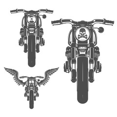 Set of motorcycle vintage style