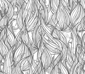 Beautiful seamless pattern with swirls look like a flames. Great textures for your design.