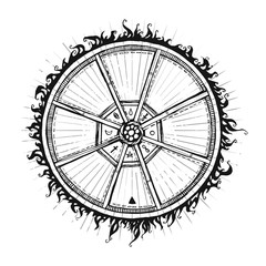 Mandala. Beautiful graphic vector element. Ethnic illustration. Template for t-shirts, cafe , club, or your design.