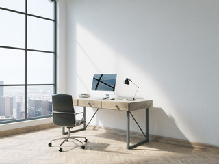 Minimalistic office with workplace