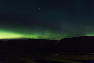 Northern lights, aurora borealis, Skogar, Iceland