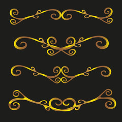 Set of vintage decorative ornaments vector illustration