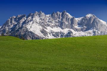 Alpine scenery in spring, Wilder Kaiser, Kitzbühel, Tyrol, Austria