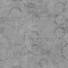 Technology seamless background - techno endless pattern