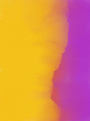 Abstract Watercolor Background - Purple and Yellow