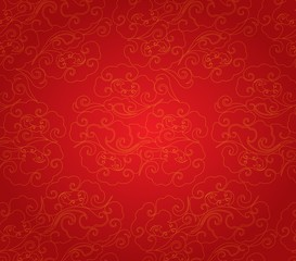 Oriental Chinese New Year pattern background