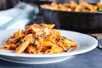 American chop suey pasta dish with beef