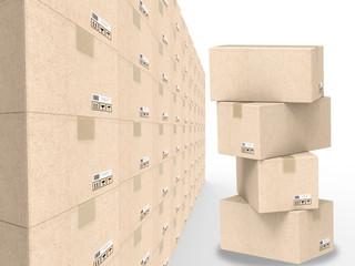 warehouse boxes