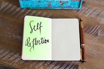 Handwritten Text Self Reflection Wall mural