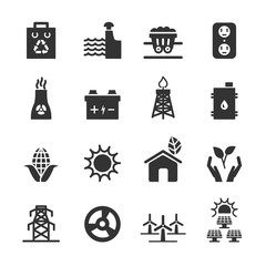 ecology energy icon set 3, vector eps10