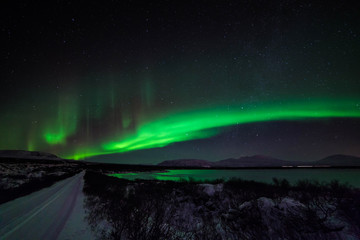 An aurora, sometimes referred to as a polar light, is a natural light display in the sky, predominantly seen in the high latitude (Arctic and Antarctic) regions.