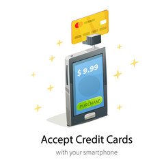 Smartphone credit card payment