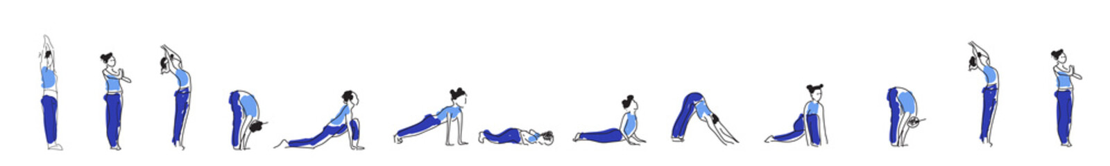 Yoga asana practice with Om symbol in lotus vector illustration.