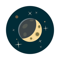 Planet earth in space icon, cartoon style