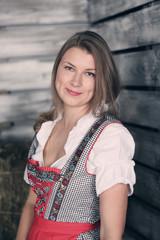Woman at hay