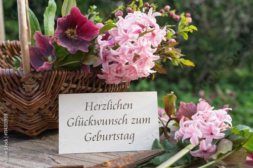Happy birthday / German-language birthday card with