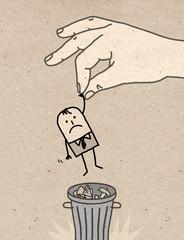 Big hand - trash can