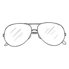Vector Single Sketch Glasses