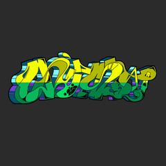 Graffiti vector urban art.