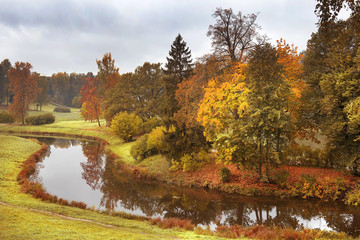 autumn landscape in Pavlovsk Park, Saint Petersburg