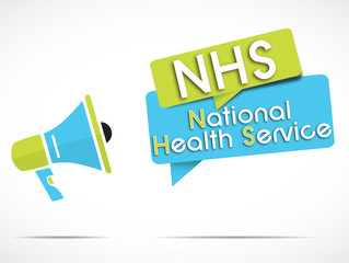 megaphone : NHS (national health service)