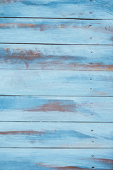 Blue painted old wood background