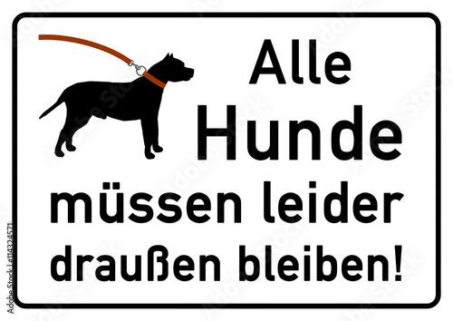 ks92 kombi schild verbotsschild alle hunde m ssen. Black Bedroom Furniture Sets. Home Design Ideas