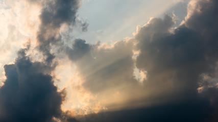 Nice sun ray with clouds