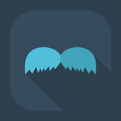 Flat modern design with shadow icon mustache