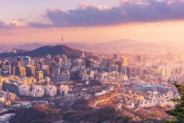Aluminium Prints Seoul Seoul City Skyline, The best view of South Korea