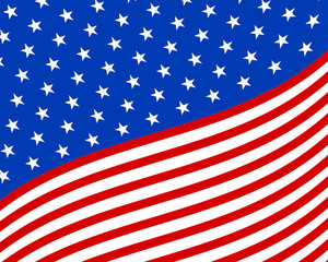 Wave america flag