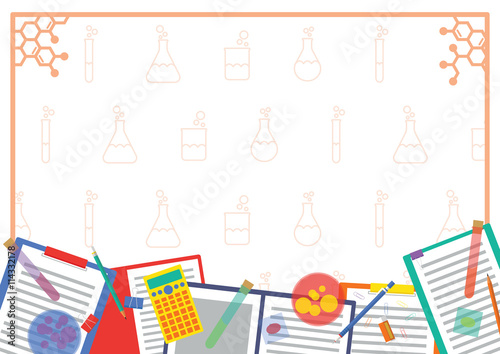 frame design vector. Modren Design Chemistry Lab Picture Frame And Note Design With Equipment  Background Throughout Frame Vector