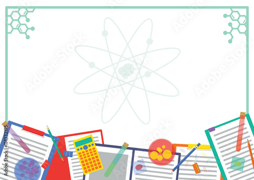 Chemistry Lab Picture frame and Note frame Design with Atom