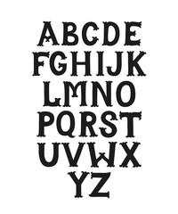 Hand drawn decorative font
