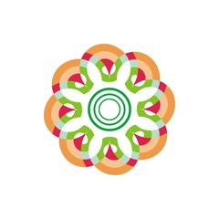 Abstract color flower pattern logo