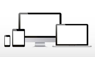 electronic devices desktop computer tablet laptop smartphone