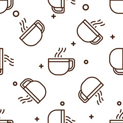 Glass coffee cup pattern