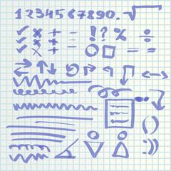 hand draw icons