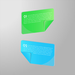3D shiny and colorful banners. 3D cards